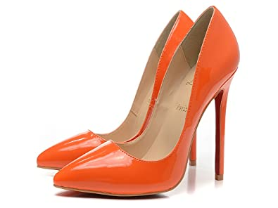new style b22e7 3241e Christian:Louboutin Women's Leather Pumps High Heel Stilettos On Dress  Shoes 10cm