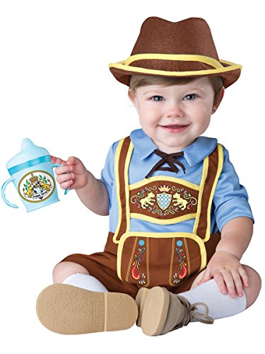 InCharacter Costumes Baby Boys' Little Lederhosen Costume, Blue/Brown, Small -