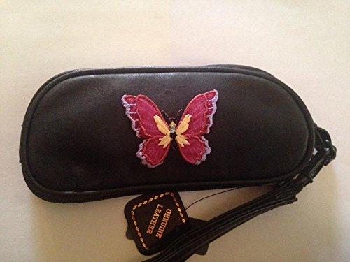 Case Eyeglass Butterflies (Butterfly Leather Eyeglass Case Sunglasses Butter fly)