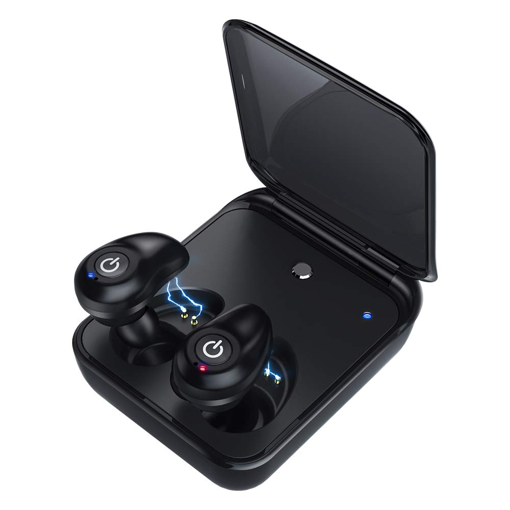 Wireless Earbuds for Android Bluetooth 5.0 Headphones with Mic 72 Hours Playtime Auto Pairing 3D Stereo Sound Cordless Wireless Earbuds Headset Noise Reduction Earphones with 2000 mAh Charging Case