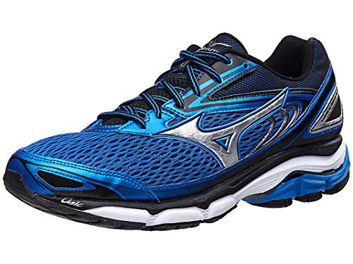 Mizuno Men's Wave Inspire 13 Running Shoe, Strong Blue/Silver, 10 2E US