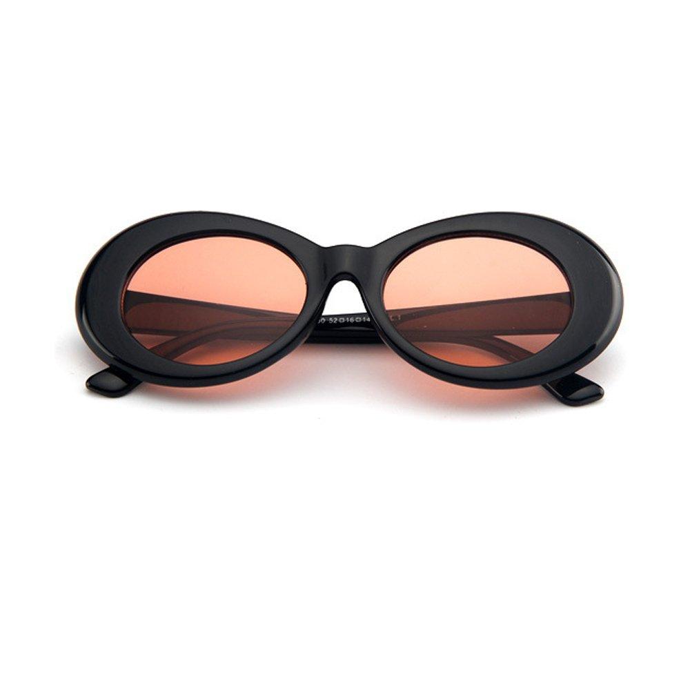 444611affa8a DODO®-Nirvana Kurt Cobain Jackie O Alien Oval Frame Vintage Retro Costume  Sunglasses Clout Goggles (Black-Red Orange)  Amazon.co.uk  Clothing