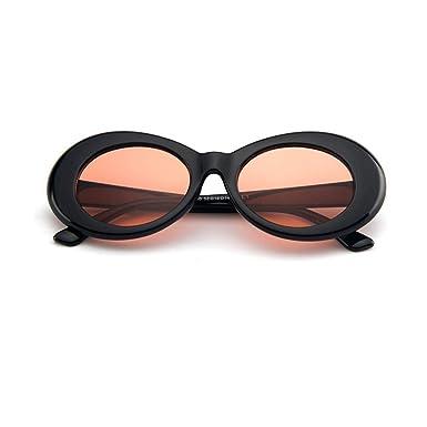 7f48c498be DODO®-Nirvana Kurt Cobain Jackie O Alien Oval Frame Vintage Retro Costume  Sunglasses Clout Goggles (Black-Red Orange)  Amazon.co.uk  Clothing
