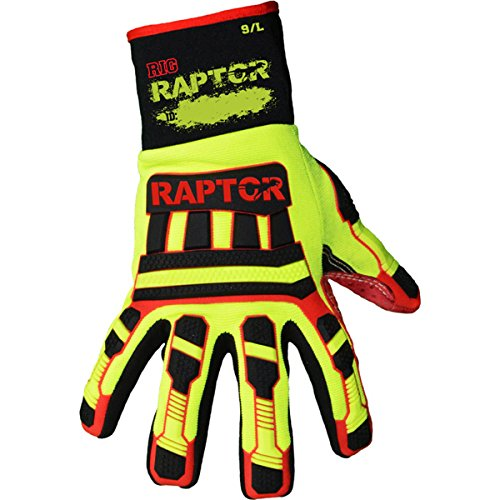 Azusa Safety RIG RAPTOR Heavy Duty Cut Resistant Impact Protection Textured Work Gloves, X-Large (1 (Impact Rig)