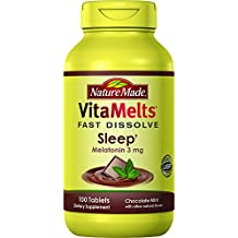 Nature Made Vitamelts Sleep Tablets, Chocolate Mint, 100 Count