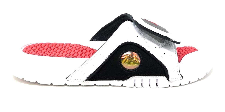 Nike Jordan Hydro XIII Retro (GS) Girls Slippers 684920-106_6Y - White/Black/Red by Nike (Image #1)
