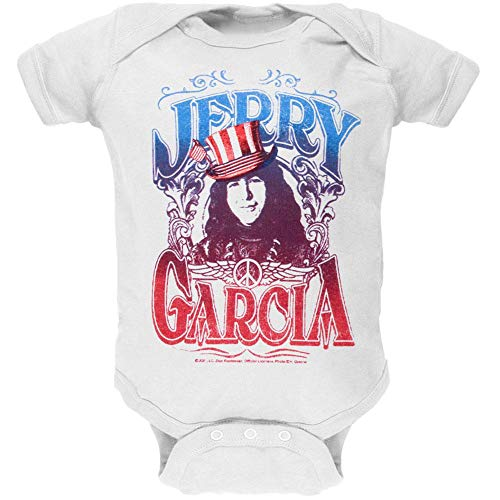 (Old Glory Jerry Garcia - Baby-Boys America Infant Bodysuit Small White)