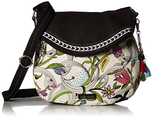 Sakroots Unisex-adults Artist Circle Foldover Crossbody, White Peace ()