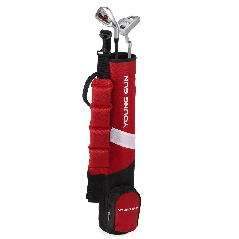 Young Gun ZAAP BIRDIE RED Junior golf club Youth Set & bag for kids Ages 9-11