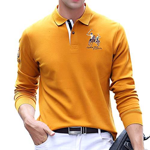 ポロシャツ 長袖 メンズ 多色 刺繍 ゴルフウェア メンズ 鹿の子 ビジネス ポロ ゴルフ ラガーシャツ カジュアル 春秋