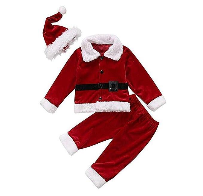 WINTERWW Juego de Disfraz de Papá Noel para bebé y niña, Chaqueta ...
