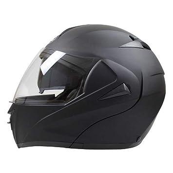 GUOHONG-CX Cascos Abiertos Casco Modulares Exterior ABS Ligero Motocicleta De Bicicleta Sombrilla Seguridad Transpirable