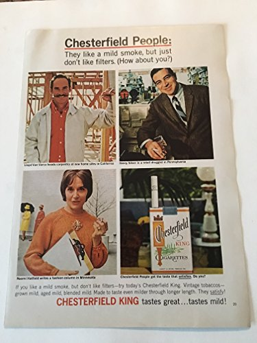 1965 Chesterfield People Cigarette Magazine Print Advertisement