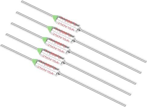 uxcell 250V 10A 72℃ Celsius Circuit Cut Off Temperature Thermal Fuse 10 Pcs