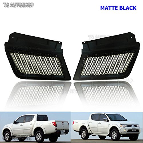 megaauto Matte Black Color Net Front Grill Grille for Mitsubishi Triton L200 Ml Warrior Ralliart 05 06 07 08 09 2WD 4WD Truck Pick-Up 2 Door 4 Door