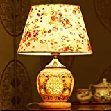 Edge To Table Lamp Wedding Table Lamp Chinese Pastoral Ceramic Lamp Bedroom Bedside Lamp Table Lamp European Study Lamps