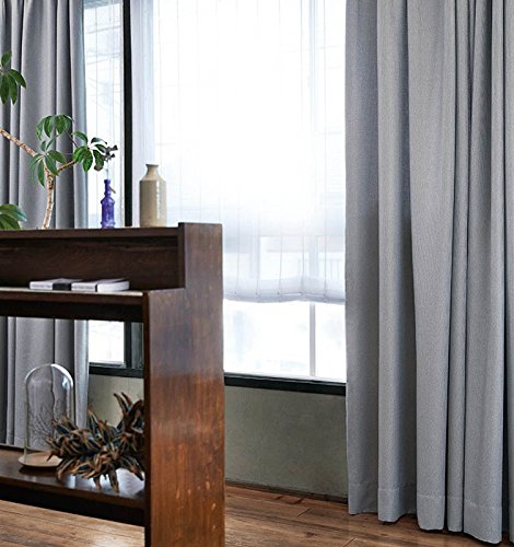 アスワン ミックス感のあるよこ糸を使ったカーテン カーテン1.5倍ヒダ E6050 幅:150cm ×丈:150cm (2枚組)オーダーカーテン 150  B078C7ZH9M
