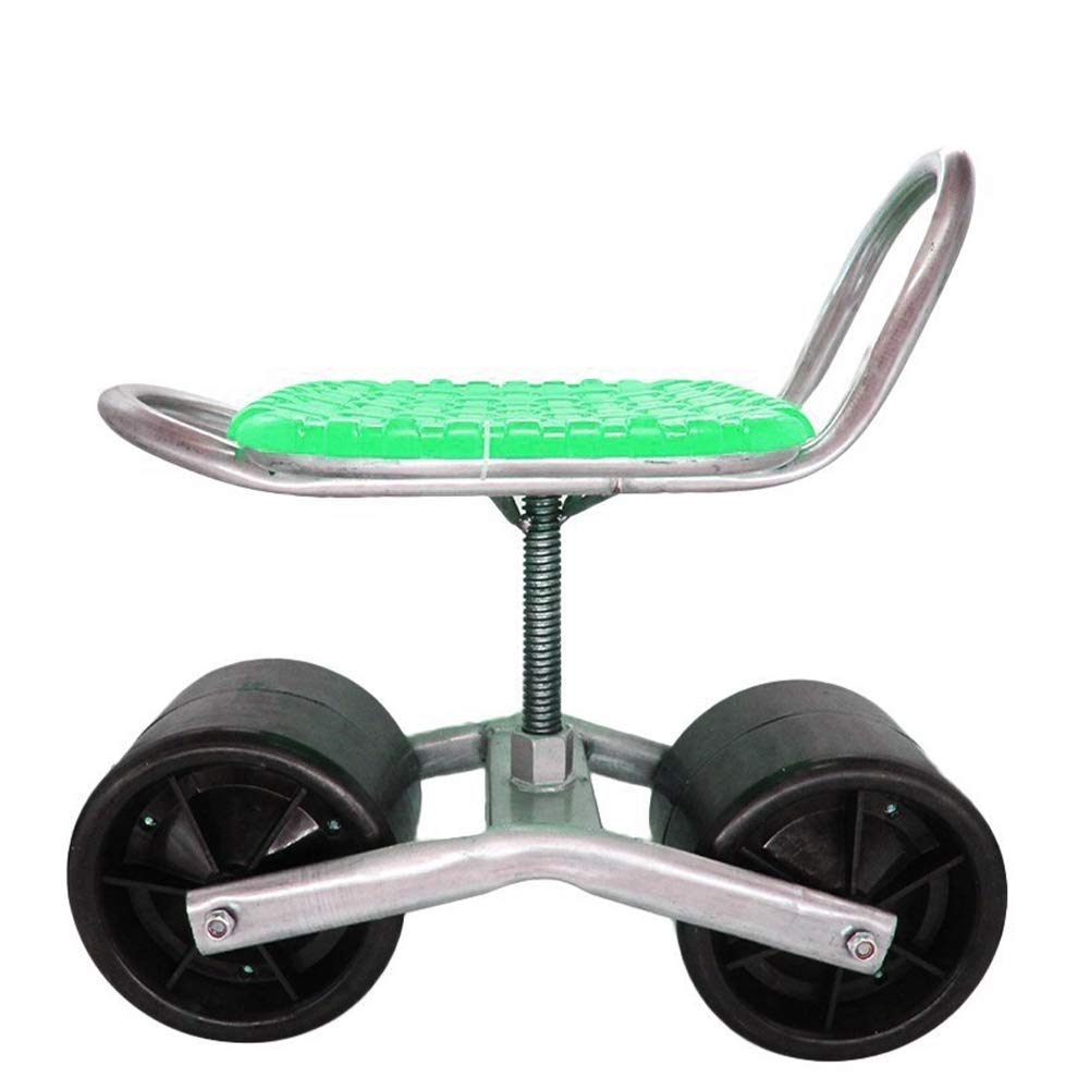 AWUHONG Swivel Scoot Rolling Garden Seat Scooter Works Garden Cart Rolling Scooter Green