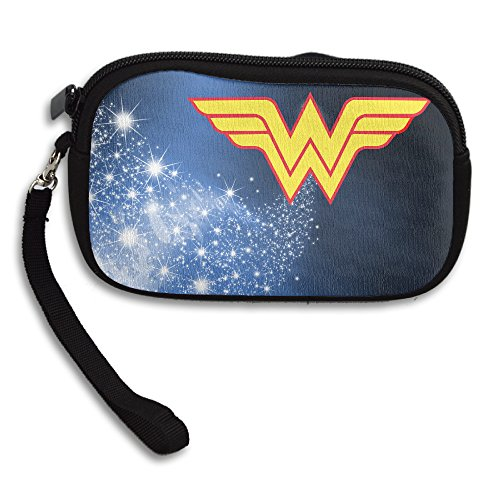 LHLKF Avengers Wonder Woman Logo Fancy Wallet Card Holder With Zipper Closure