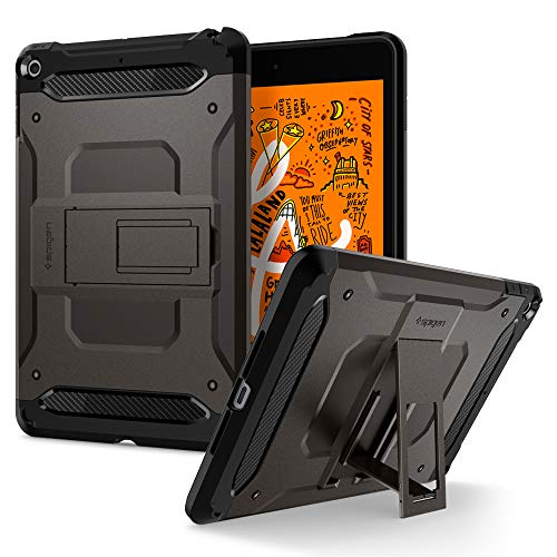 Spigen Tough Armor TECH Works with iPad Mini 5 7.9 inch 2019 Case - Gunmetal
