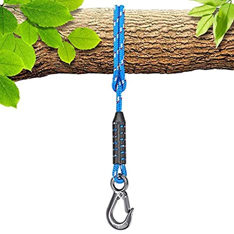 Seleware Tree Swing Ropes Hammock Chair Straps Hanging Kit Nylon Rope W Stainless Steel Hook Holds To 3500lbs Perfect For Playground Set Children Swing Outdoor Hammock And Hanging Chair 4 92 Ft Amazon In Garden Outdoors