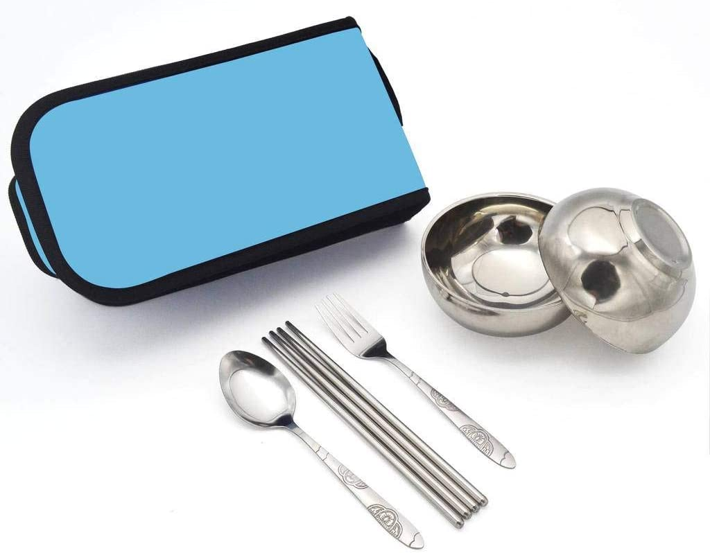 Portable Stainless Steel Camping Picnic Folding Detachable Cutlery Spoon CB