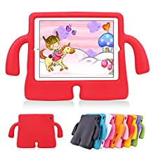 iPad Air 2 Kids Case iPad Air Kids Case Lioeo Cute 3D Cartoon Light Weight Shock Proof Durable Protection Cases EVA Foam Protective Children Cases and Covers for Apple iPad 5 6 Generation (Red)