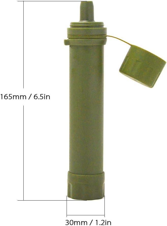 Lixada Filtro de Agua Port/átil Sistema de Filtraci/ón de Agua Mini para Emergencia Supervivencia Acampada Viaje Mochilero 1//2pcs 1500L