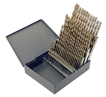 Amazon chicago latrobe 559 series cobalt steel short length chicago latrobe 559 series cobalt steel short length drill bit set in metal case gold greentooth