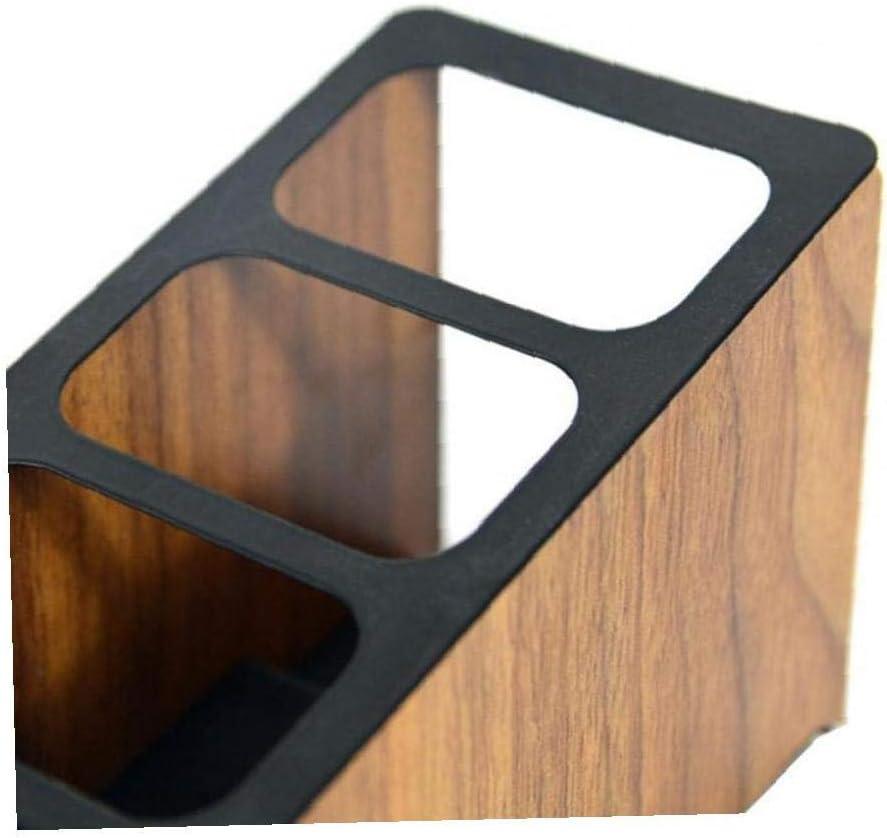 BYFRI Organizer Vier Grid-Storage-Box St/änder Desktop-fernbedienungshalter Aus Holz Container Tragbarer Compartment Durable Tidy 1pc