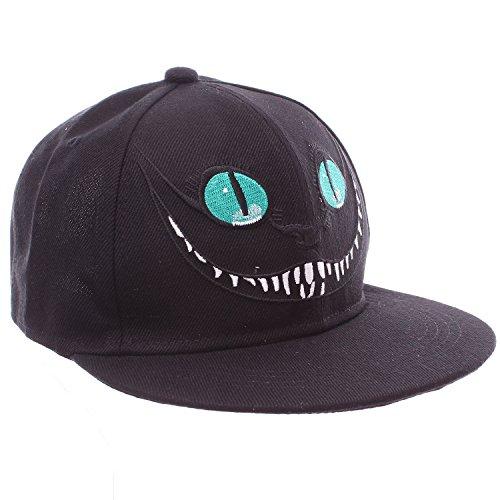 Alice in Wonderland Cheshire Cat Black Snapback Baseball Hat (Cat On Alice And Wonderland)
