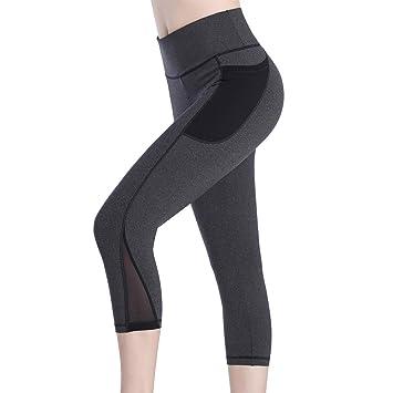 4481e17da1fb77 Picotee Sport Leggings Damen Yogahose Leggins Hoher Bund Sporthose  Blickdicht Leggings Tasche Fitnesshose (3/