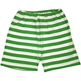 Zutano Apple/White Stripe Shorts