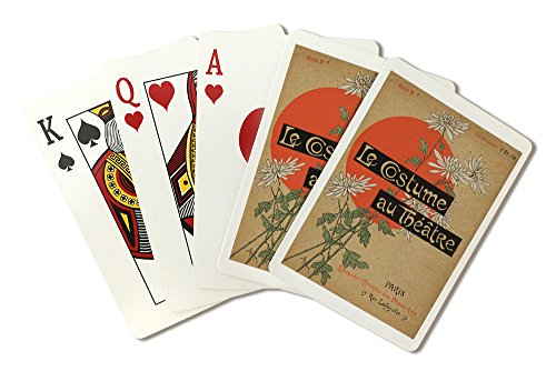 Theatre Costume Design Portfolio (Le Costume au Theatre (portfolio, cover) Vintage Poster (artist: Steinlen and Mesples) France c. 1899 (Playing Card Deck - 52 Card Poker Size with Jokers))