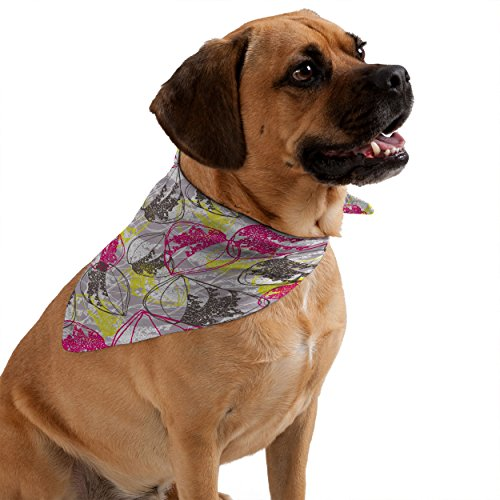 Deny Designs Rachael Taylor Organic Retro Leaves Pet Bandana, - Retro Leaves Organic Taylor