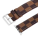 Ripple Glen Check Vintage Genuine Adjustable Straps Leather Watch Band Iphone Watch Strap Apple Watch Band Series 3 2 1 Apple Watch Parts Apple Watch Band 42mm Band 38mm Iphone