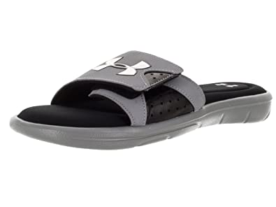 Under Armour Men's Ignite IV Sandal Steel/Black/Metallic Silver Size 8 ...