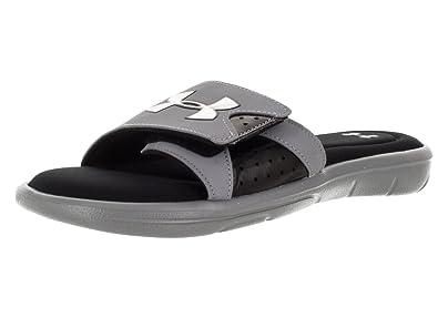 Under Armour Men s Ignite IV Sandal Steel Black Metallic Silver Size 12 ... 19cb54eaa