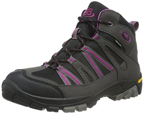EB kids OHIO HIGH, Mädchen Trekking- & Wanderstiefel, Grau (Grau/schwarz/lila), 38 EU (4.5 Kinder UK)
