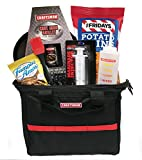 Craftsman Man Gift Basket- Gift for Men- Craftsman Tool Bag with Craftsman Skillet, Chips, Cookies +More- Perfect for Father's Day - Birthdays (Snack Gift- Craftsman Tool Bag & Skillet Set)