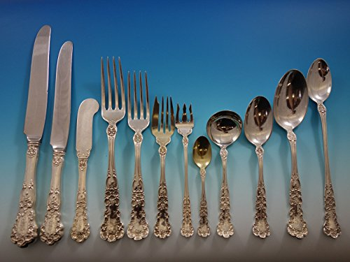 Buttercup by Gorham Sterling Silver Flatware Set For 12 Dinner 286 Pcs Huge Box - Gorham Buttercup Dinner