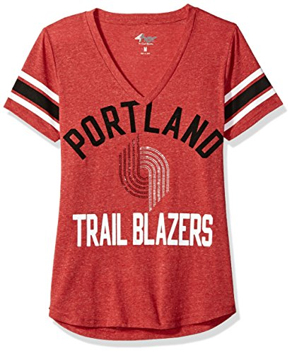 NBA Portland Trail Blazers Women's The Big Game Tee, XX-Large, Red