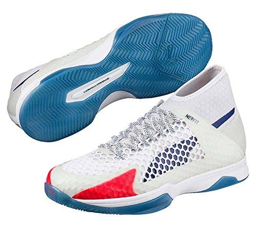 Puma Evospeed Indoor Netfit 1, Zapatillas Deportivas para Interior Unisex Adulto Blanco (White-blue Depths-toreador)