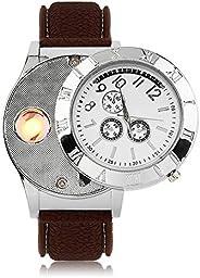 BLACK MAMUT Reloj de Pulsera para Hombre, Análogo, Casual, Moderno, con Encendedor a Prueba de Viento, Cigarro
