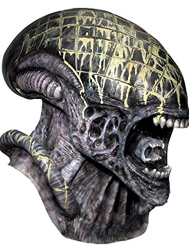 Rubie's Men's Aliens Vs. Predator: Requiem Deluxe Latex Alien Mask, As Shown, One -