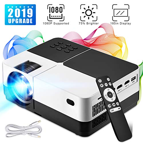 Wsky Portable LCD Home Movie Projector - Best...