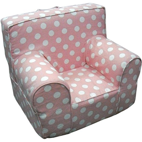 CUB CHAIRS Oversize Pink Polka Dot Chair Cover for Foam Children's Chair (Anywhere Chair Insert compare prices)