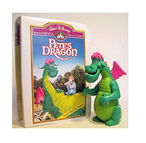 1996 Pete's Dragon Elliott Masterpiece Collection McDonald's Fast Food Happy Meal Toy Dragon In Replica Movie Case