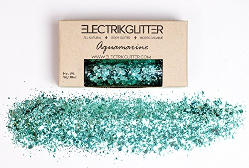 Electrik Glitter Biodegradable Body Glitter (5G) (Aquamarine)