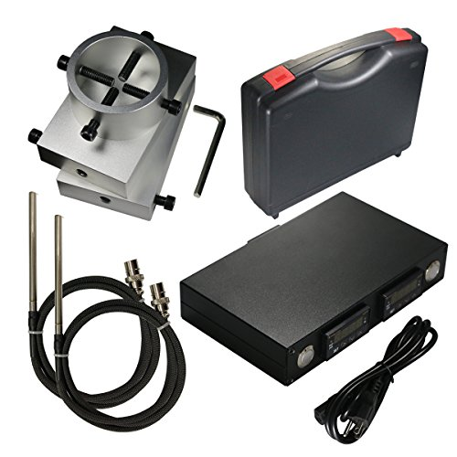 Rosin Press Plates Kit 3x5'' 6061 Aluminum Plates with Dual Controller and Two Heating Rod by Vapecode